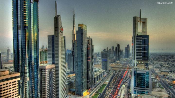 Dubai Skyline Day - Tonemapped HDR