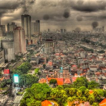 Jakarta business district.