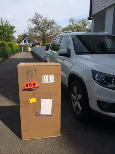 Huge package for a small toy
